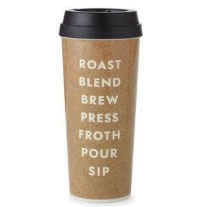 Kate Spade Roast Blend Brew 16 oz Thermal Mug NWT